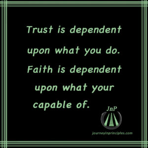 Faith is spiritual, trust is not.